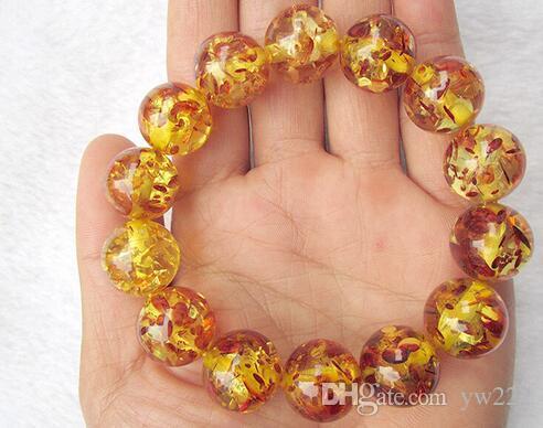 Chinese handwork high quality amber elasticity necklace bracelet