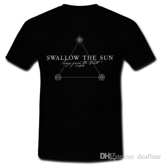 Anime Print Tee SWALLOW THE SUN Song From The North Doom Metal Band T-shirt Tee S M L XL 2XL