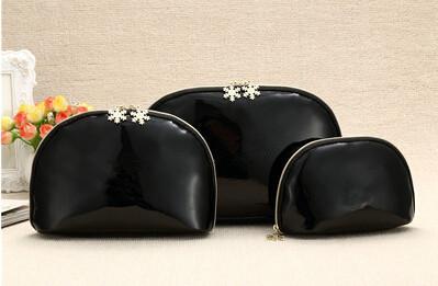 CC النساء ندفة الثلج سحاب أنيقة الشهيرة منظم حقيبة قضية الجمال مستحضرات التجميل ماكياج حقيبة أدوات الزينة مخلب