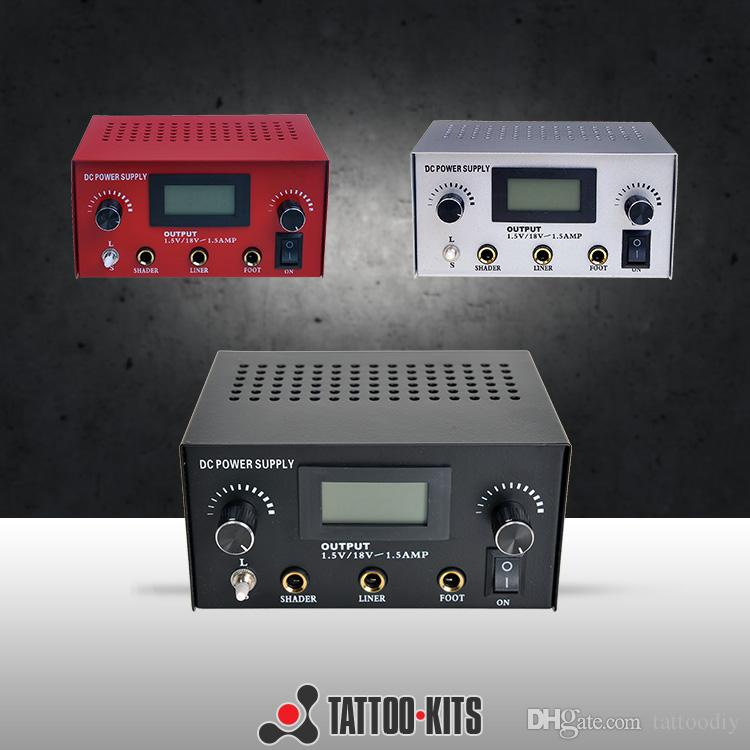 LCD Tattoo Power Supply 3 Color available for Guns Machines Kits Power Box with Power cord P005