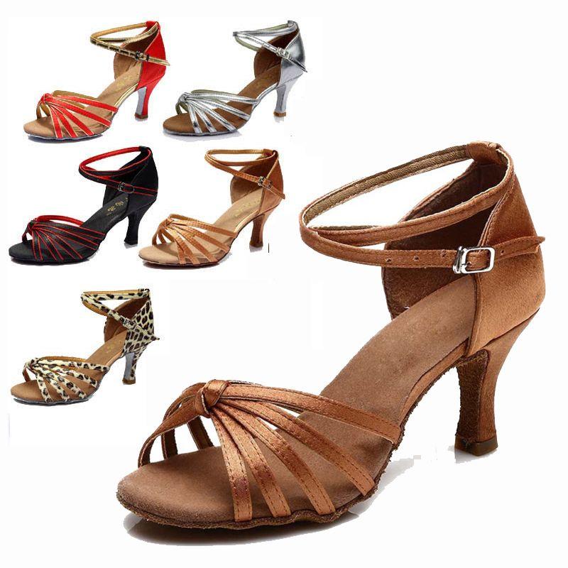 Sapatos de dança de tango latino mulheres para a menina salão de baile sapatos indoor sapatos de marca de desconto heel hight 7 cm 801a