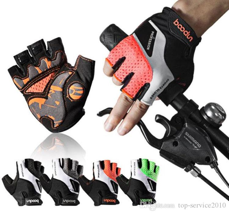 Boodun Sınır Ötesi tedarik sürme eldivenleri Açık spor aşınmaya dayanıklı nefes yaz eldiven sürme yarım parmak bisiklet eldivenleri ücretsiz post