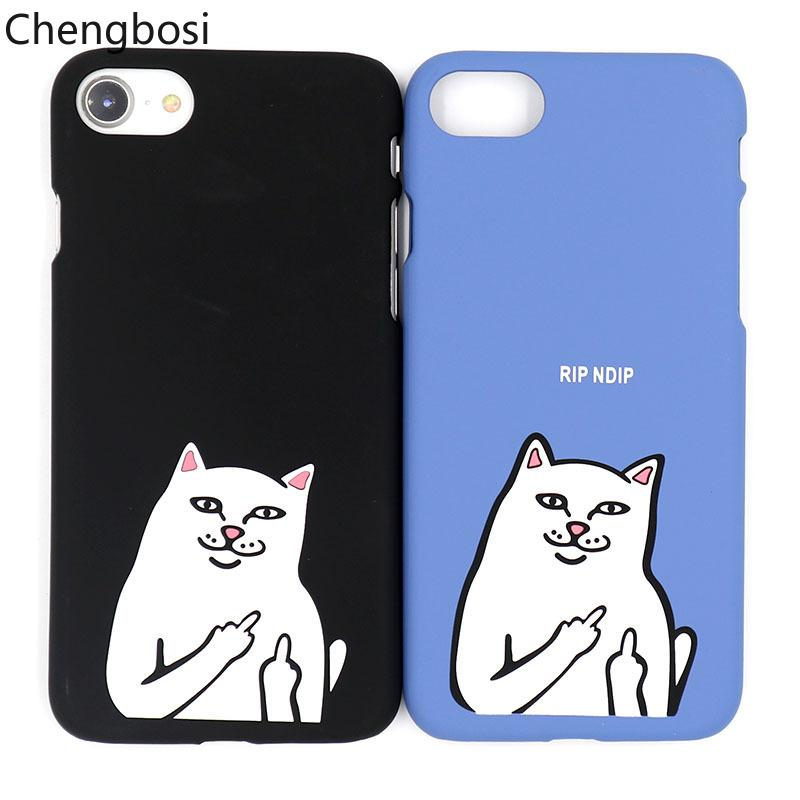 New Middle Finger Despise Cat Phone Case Cover For IPhone 5 5s 6