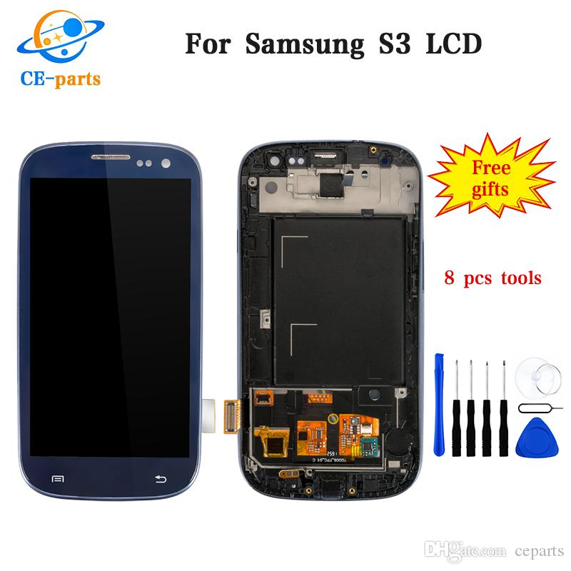 Factory Price LCD For Samsung Galaxy S3 i9300 LCD Display Touch Screen Digitizer+Frame Assembly Replacement For samsung s3 lcd
