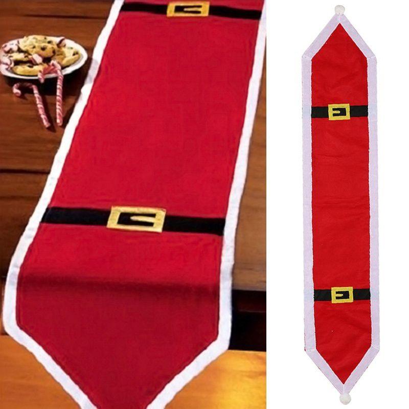 Partido de Navidad de la bandera tabla de la manera ropa de Santa Claus Navidad Mantel cena de Navidad suministra la decoración de Navidad para el hogar