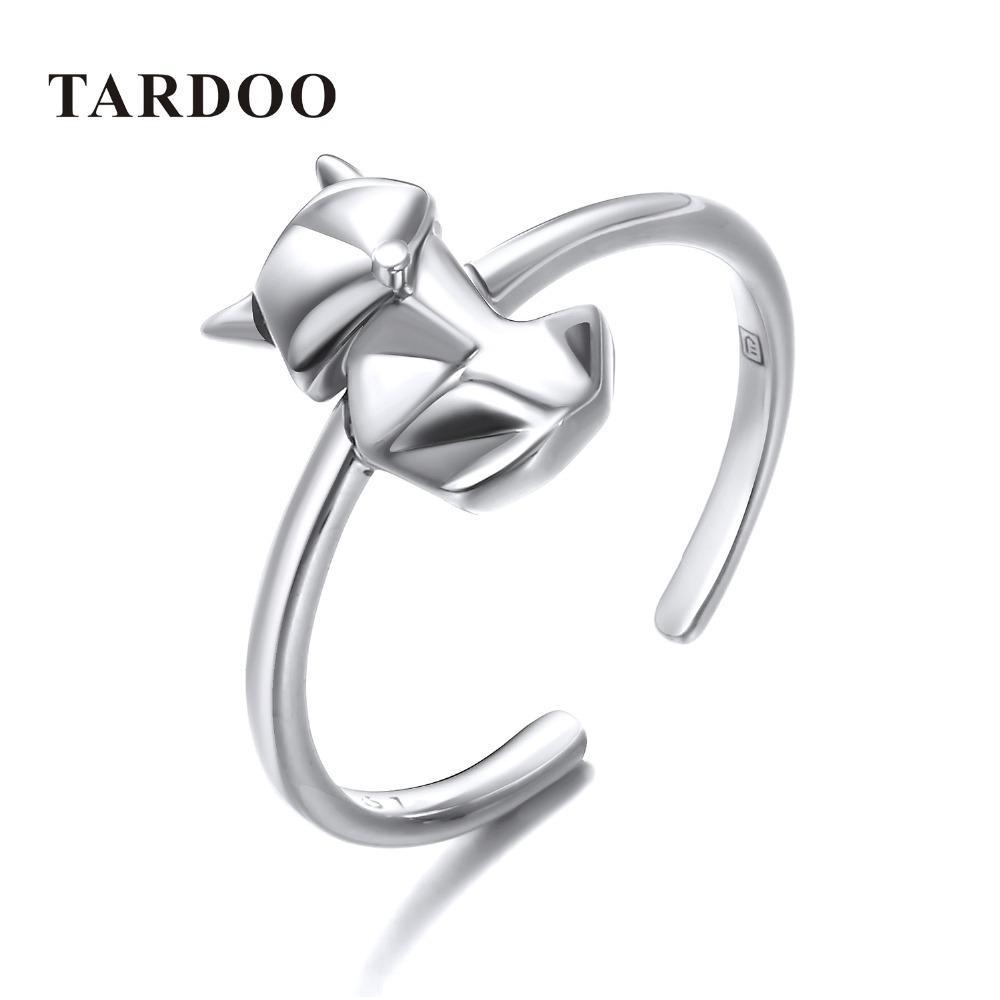 Tardoo 925 Gümüş Tilki Şekli Yüzükler Güzel Hayvan Fox Parti Manşet Yüzükler Kadınlar Için Basit Tasarım Sevimli Fox Yüzükler Güzel Takı Y18102610