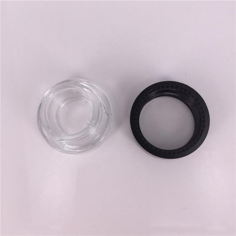 DHL Free shipping Food Grade 6ml Non Stick Glass Concentrate Container Glass Bottle Wax Dab Jar Thick Oil Container VS 5ml Glass Jar