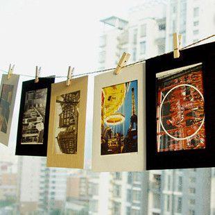 F225 kreative DIY Fotorahmen Wandbehang aus Papier kombiniert mit Schnur Clips 6-Zoll 10 Stück