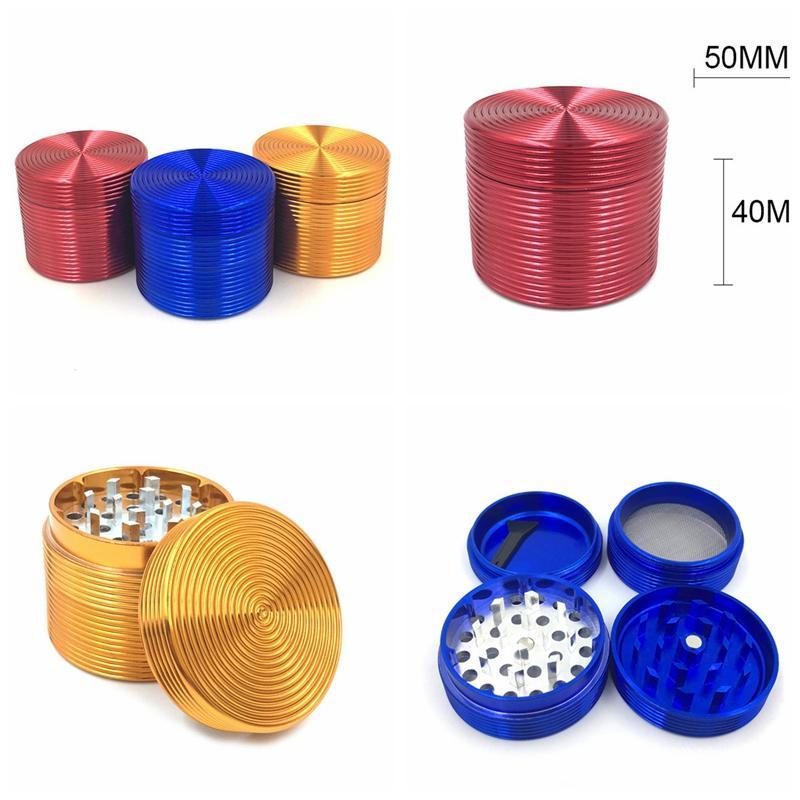 Vortex modello forma colorato lega di alluminio diametro 50mm mini erba grinder spezia mugnaio frantoio di alta qualità bel colore design unico