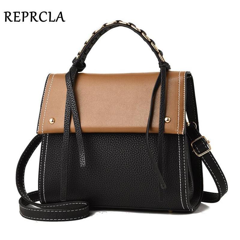 REPRCLA Luxury Designer Women Handbag Top-handle Bag PU Leather Messenger Shoulder Bag Fashion Crossbody Women Bags