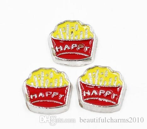 charm for living glass floating locket cupcake with cherry sweets