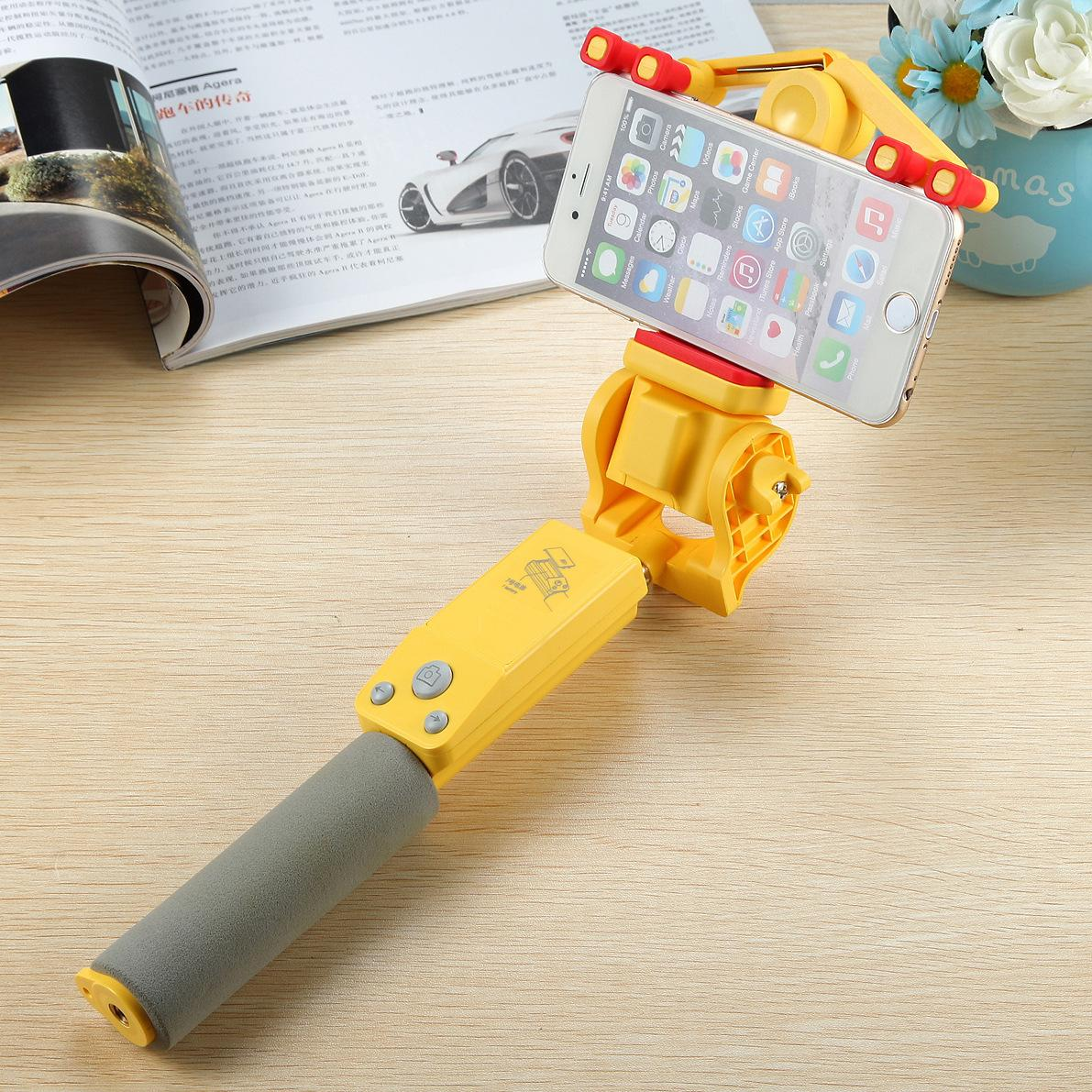 Smart Selfie Stick 360 Degree Smart Rotation Extendable Wireless Bluetooth 4.0Remote Control Support IOS 4.0Android r30