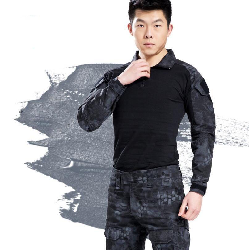 Новый высокое качество мужская Combat хлопок брюки тактический камуфляж брюки длинные брюки с несколькими карманами Бесплатная доставка