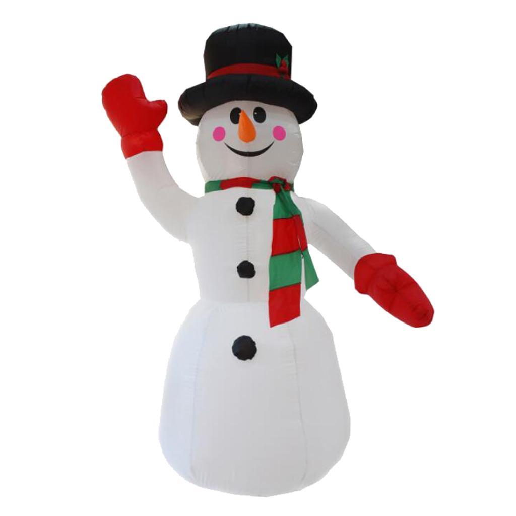 Mão de ondulação inflável boneco de neve chrsitmas festival quintal exterior decoração plugue eu