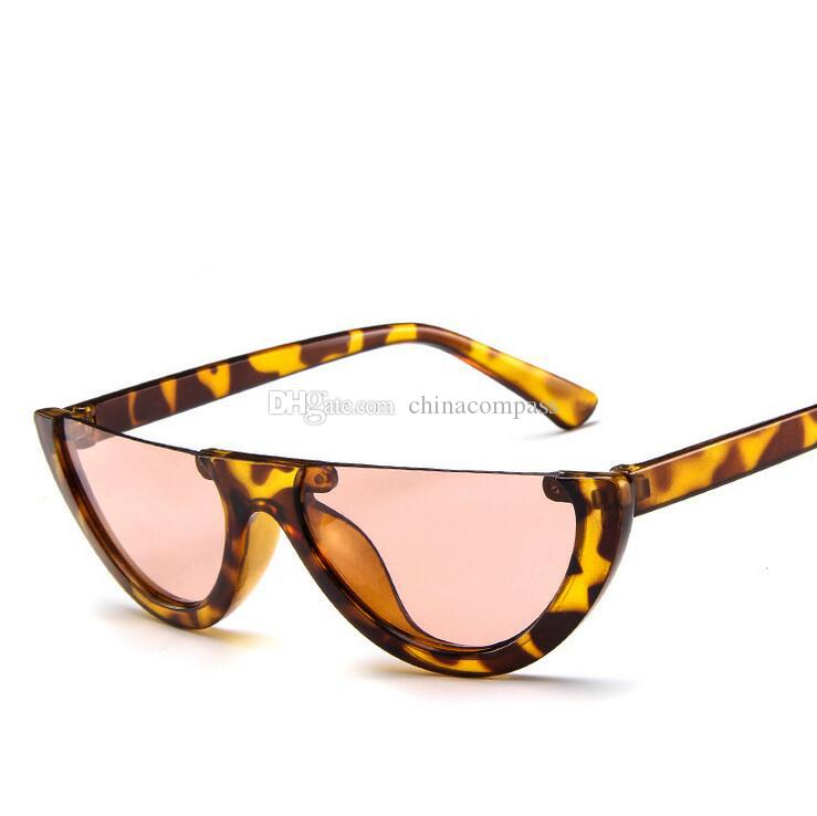Wholesale- Cheap sun glasses New Personality half frame sunglasses Fashion Punk Retro sunglasses glasses for Women men