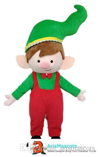 Lovely Christmas mascot costume elf dress Cartoon Mascot Costumes for Kids Birthday Party Custom Mascots at Arismascots Character Design