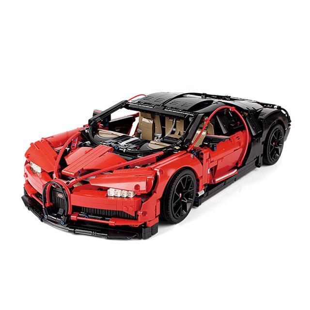 Custom Lote De 4 Rodas Vermelho Metálico 23799 Para Lego 42083 Bugatti Chiron