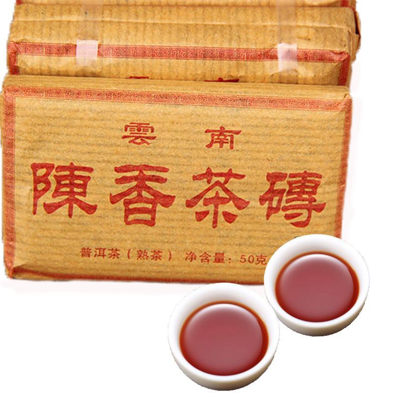 50g Yunnan antico fragrante Ripe Puer del mattone naturale organico Pu'er albero più antico cotto Preferenze Puer nero Puerh Green Food