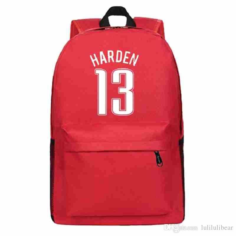 حقيبة هاردن الرجال صبي المراهقون فتاة جيمس الظهر قماش مدرسة كرة السلة للطلاب حقيبة الظهر النساء الظهر mochila اجتماعيون حطام