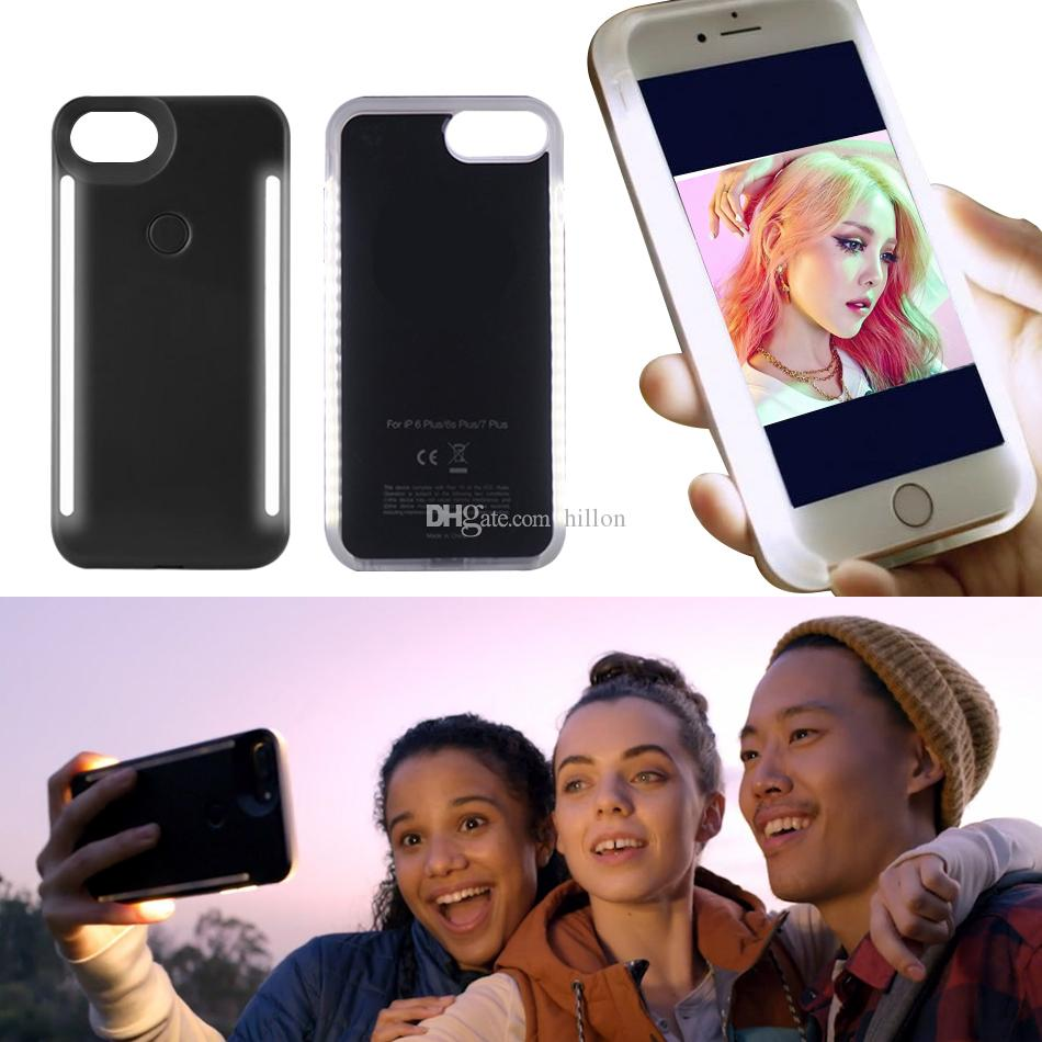 buy popular ed3a1 d7f79 LED Case Newest LED Light Case Illuminated Selfie Light Cell Phone Case  Cover For IPhone X IPhone 7/8 Galaxy S8 Plus Leather Cell Phone Cases  Phones ...