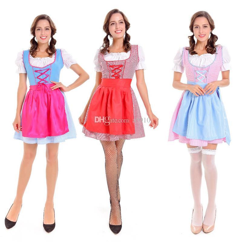 Сладкий и прекрасный европейский и американский стиль пиво услуги горничной Хэллоуин косплей пром производительность одежда игры костюм