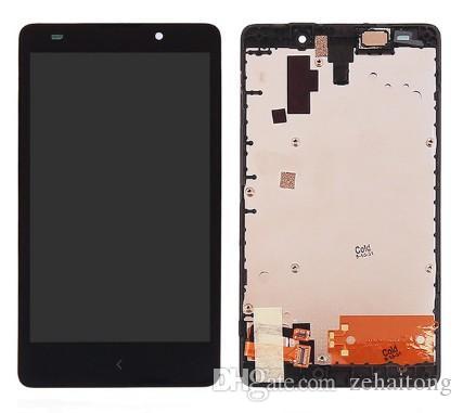 100% Тест стекло экрана касания датчик Digitizer + LCD панель дисплея экран Ассамблея + черная Рамка для Nokia XL 1030