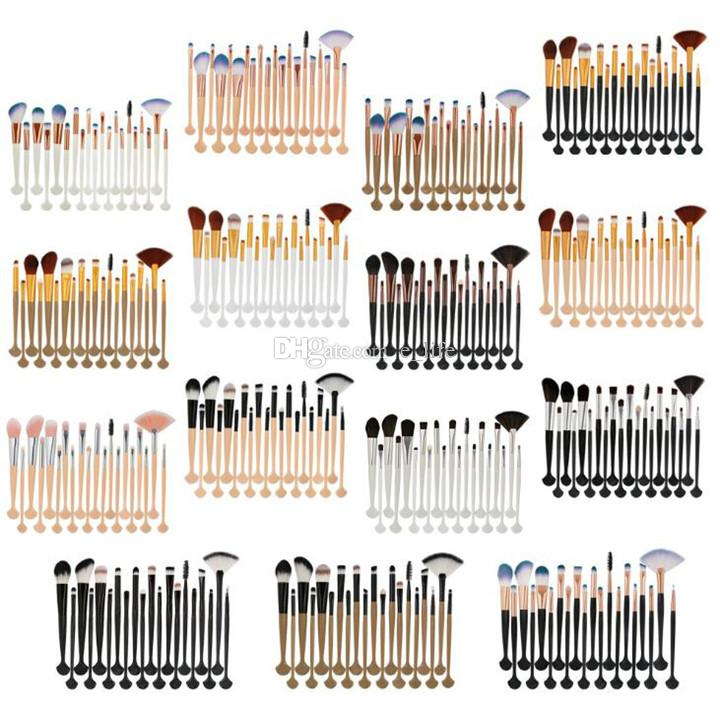 Nuevo MAQUILLAJE Cepillo 20 unids / set Cepillos de Shell Set Sombra de Ojos Profesional Fundación Eeybrow Polvo Corrector maquillaje Herramientas envío DHL