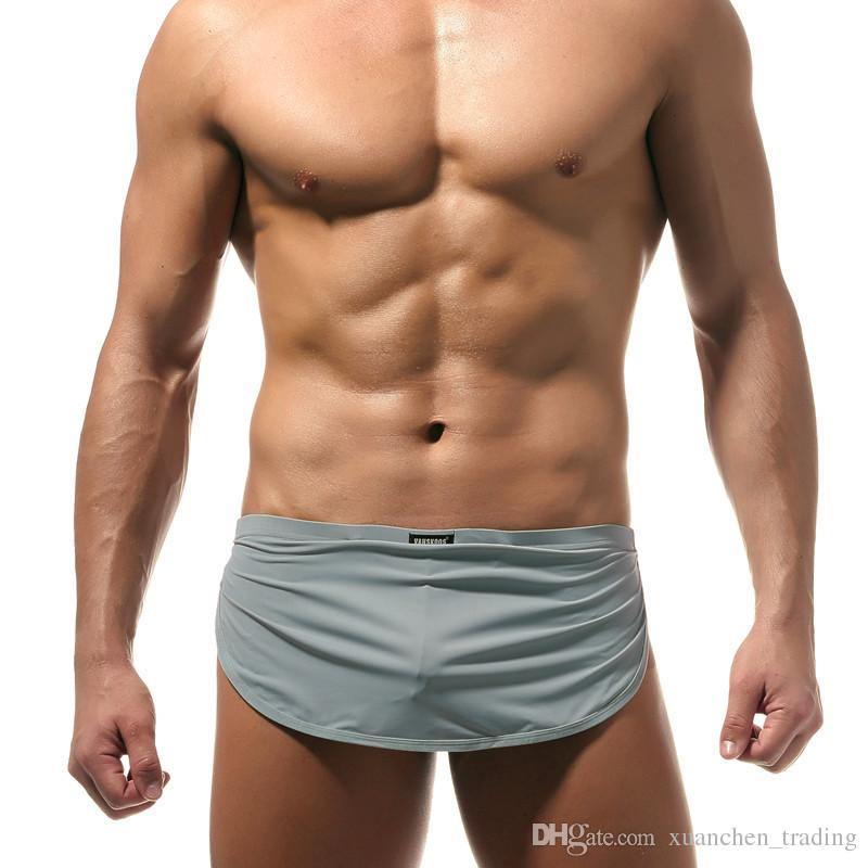 Best price Men Male Underwear comfortable Sexy G-string Man Boxer shorts U convex pouch silk Sexy Body XXL size Arrow underpant Factory sale