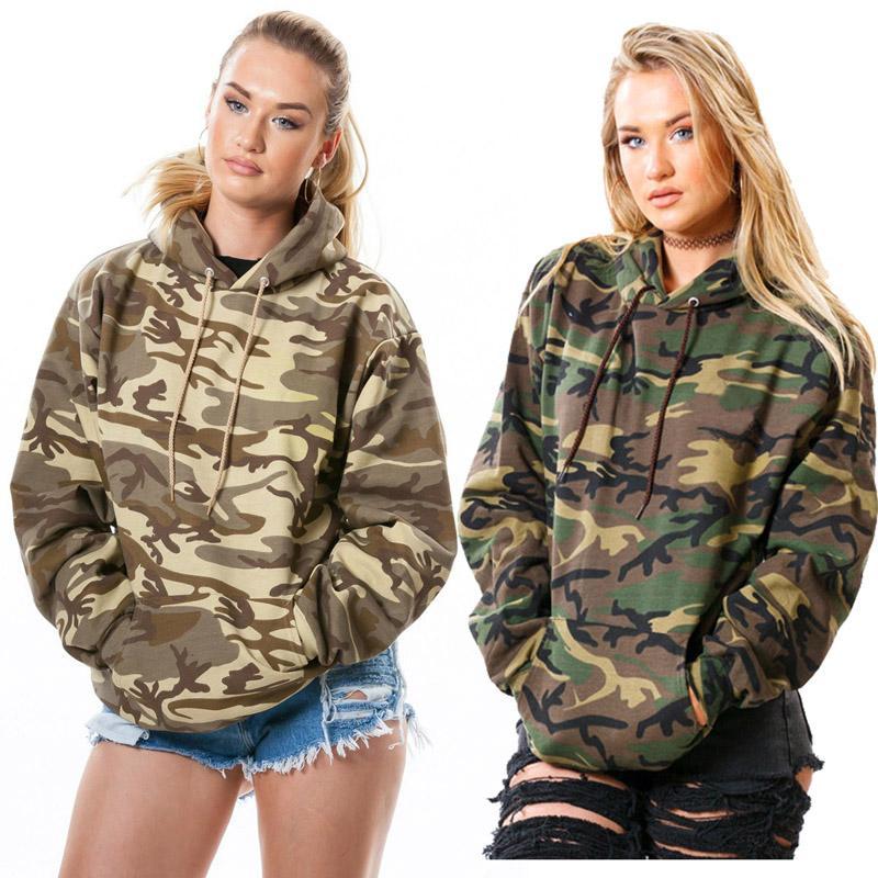 Women hoodies winter new Explosive camouflage printed hooded thick sweater Pocket casual streetwear hoodie xl 811