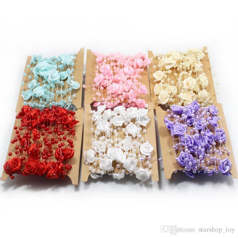 Patch Blume Blüte Hortensie rosa mit Pailletten Perlen Applikation Aufnäher
