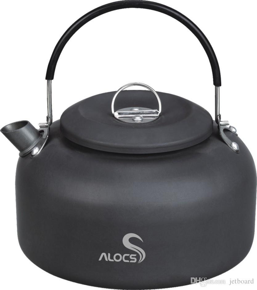 Alocs CW-K03 1.4l المياه غلاية وعاء التخييم نزهة إبريق الطبخ سبائك الألومنيوم خفيفة للغاية سبائك غلاية كيت
