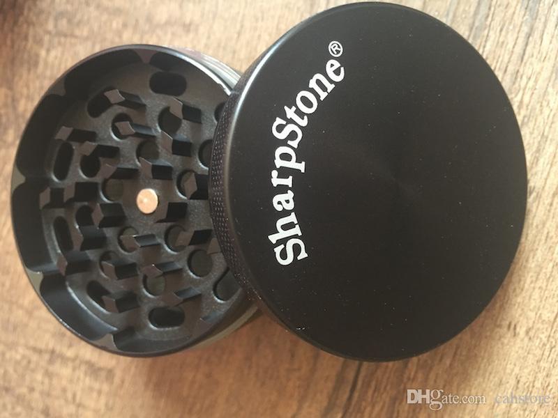 Barato 40mm 4 camadas zicn liga afiada moedores para tubulação de fumo de metal afiada pedra moedores de ervas com caixa de Varejo