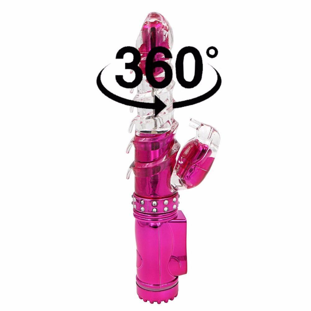 YEMA 360 Gradi Rotante Vagina Clitoride Stimolatore Vibratori Dildo G Spot Vibratore Del Coniglio Giocattoli Del Sesso per Donna Sex Machine Shop S19706