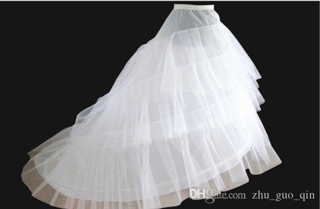 Dressv Cheap Jupon De Mariage Jupon Court Train Crinoline Slip Underskirt Pour A-ligne Robe De Mariée 3 Couches Accessoires De Mariage