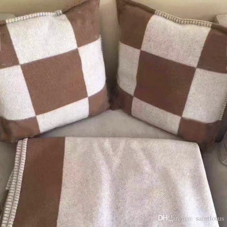 2021Cashmere منقوشة وسادة القضية أريكة المنزل رمي وسادة البرتقال الصوف الكشمير وسادة تغطي
