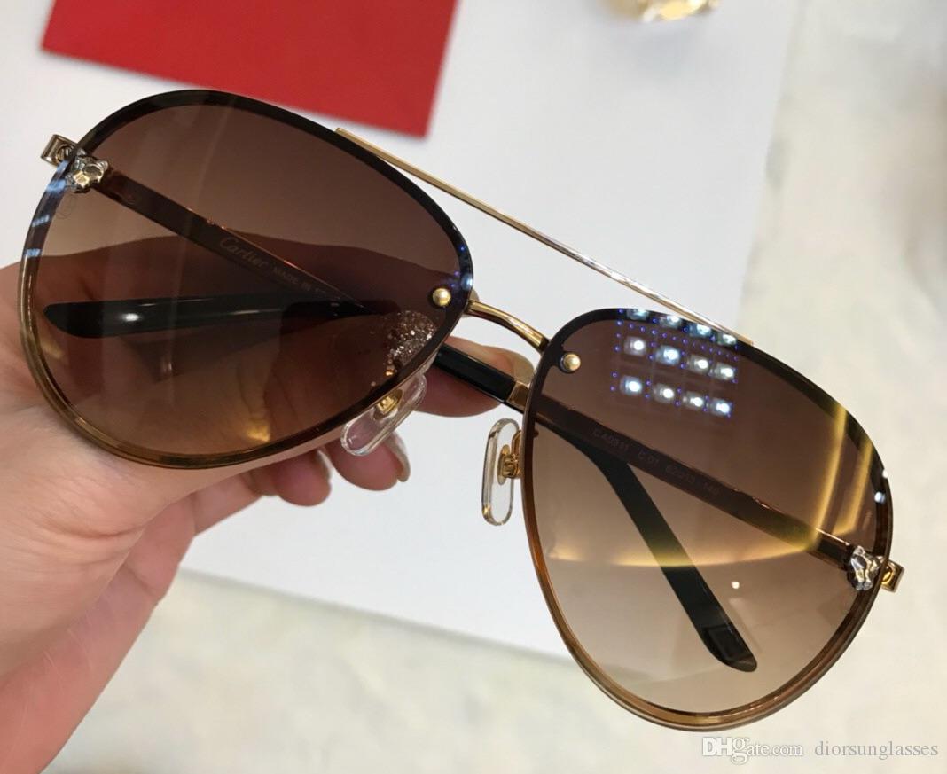 Мужчины марочных EYEGLASSES КАДРЫ WOOD ОЧКИ безободковый КАДР гальванический Santos солнцезащитных очки Новый в коробке CNUM1808138