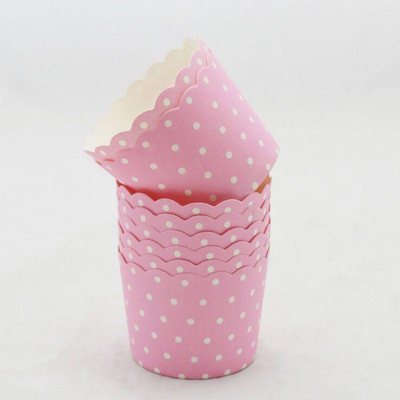 50Pcs / set Coloré Papier Gâteau Coupe Four Outils De Cuisson Plateau Doublures Cuisson Coupe Muffin Cuisine Cupcake Cas