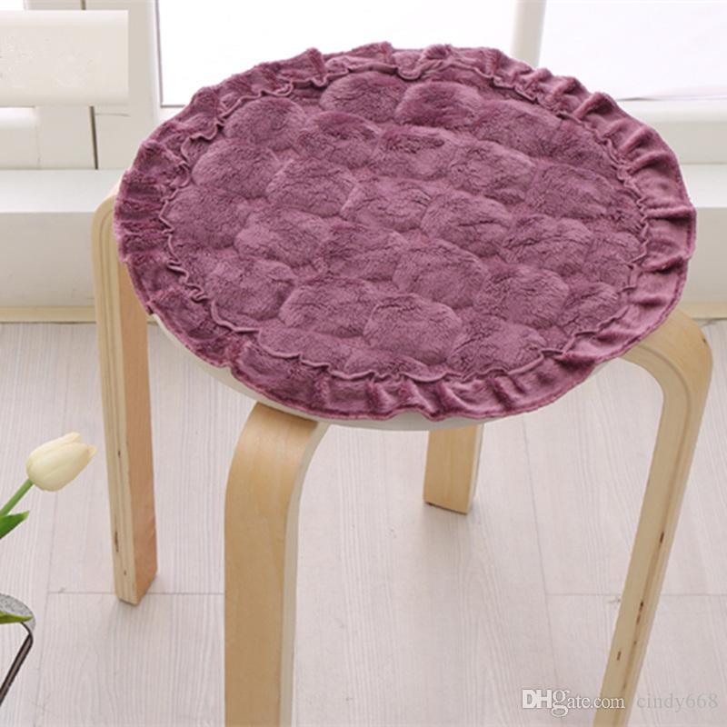 Solid Color Round Thicken Chair Cushions Home Decor,Diameter 40cm Floor Cushion Pad Mat 1Pcs Dining Seat Cushion almofada decorativa