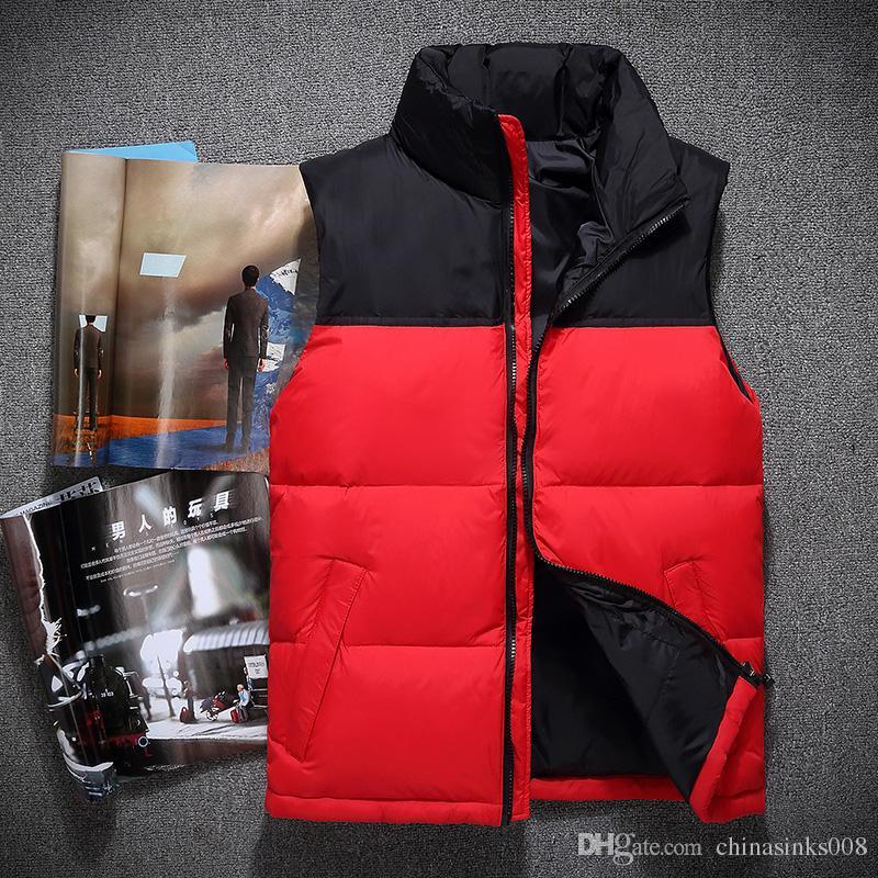 2018 Nuovo arrivo uomini di marca di moda colletto colletto giacca senza maniche inverno ultraleggero bianco anatra giubbotto maschio gilet sottile