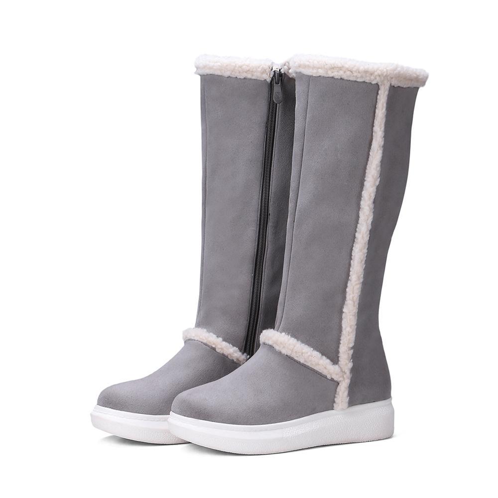 Mi-bas chaud Bottes de neige Bottes de haute qualité Flock Femmes Chaussures Hiver N Chaussures BK-CJL-6016
