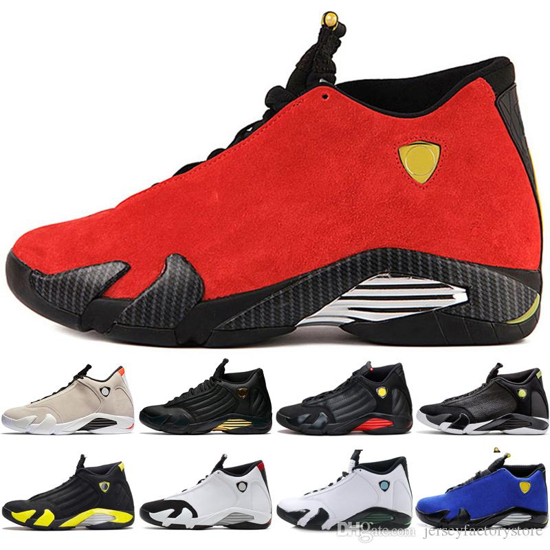 Good 14 14s mens Basketball Shoes Desert Sand DMP Last Shot Indiglo Thunder Red Suede Oxidized Grey White mens Sport Sneakers women