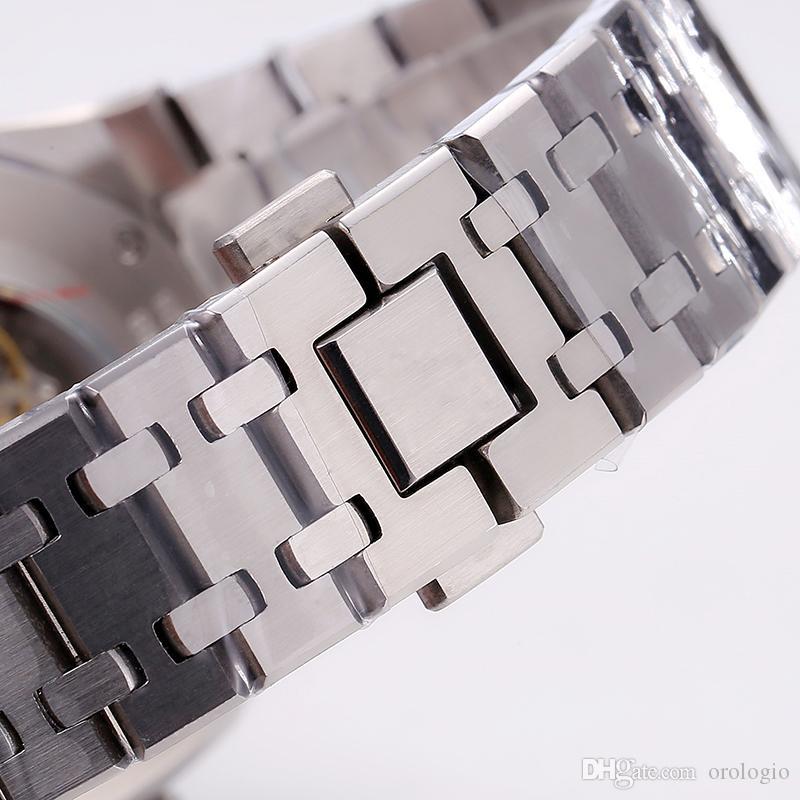 OROGOLOGIO U1 공장 세라믹 베젤 망 시계 기계적 스테인레스 스틸 자동 무브먼트 블랙 시계 글라이딩 걸쇠 5ATM 방수 손목 시계