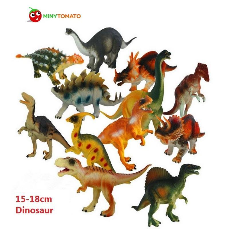 12 ~ 10cm Dinosaur Plastic Play Model Action Figures DINOSAUR Toys Kids