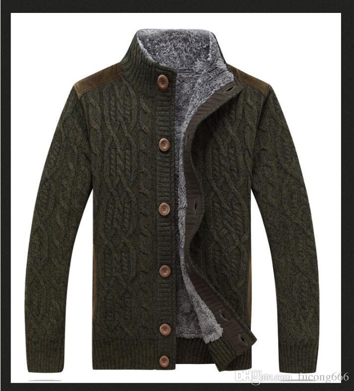 Winter neue Männer dicken Pelz Twist Sweatercoat einfarbig Pullover männlich Slim Fit gestrickte Wolle Oberbekleidung Kunstpelz Pullover Mantel