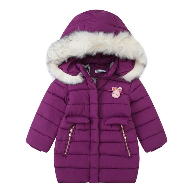 complimentary shipping shop for original best Baby Girls Jacket 2017 Winter Jacket For Girls Coat Kids Warm Fur Hooded  Outerwear Coat Children Jacket Girls Clothes 3 8 Age Toddler Boy Down Coat  ...