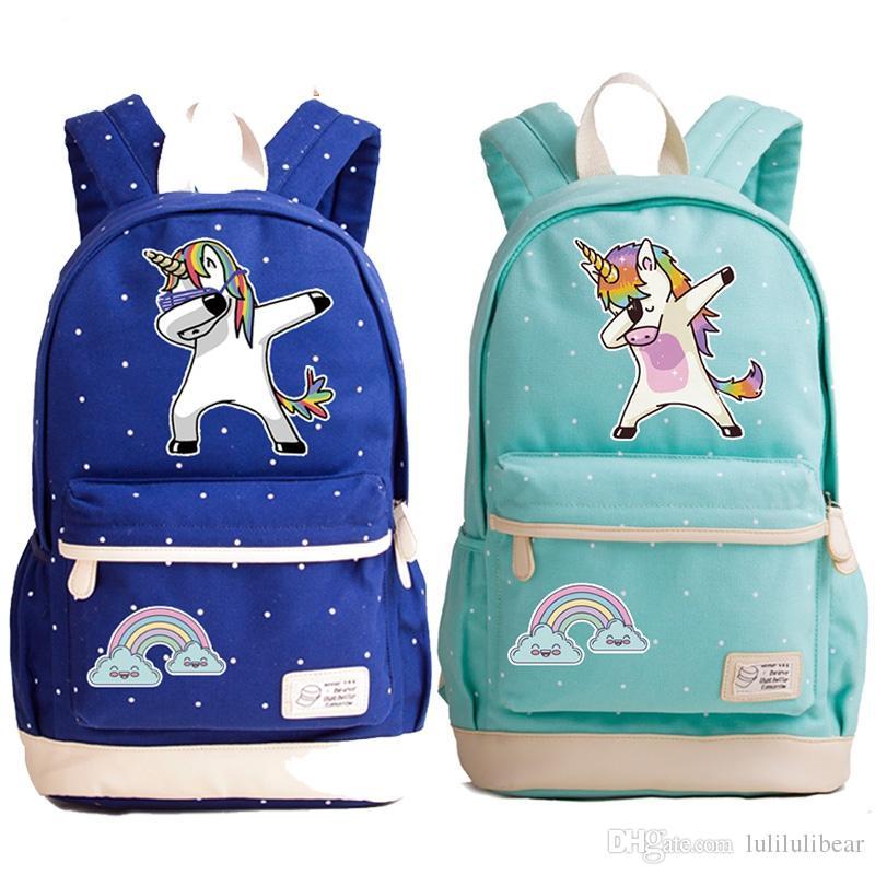 حقيبة ظهر كرتونية لفتيات قماش حقيبة سفر حقائب مدرسية للكتف للمراهقين