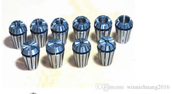 10pcs ER16 1-10mm Spring Collet CNC Carving Machine Milling Chuck Lathe Tool
