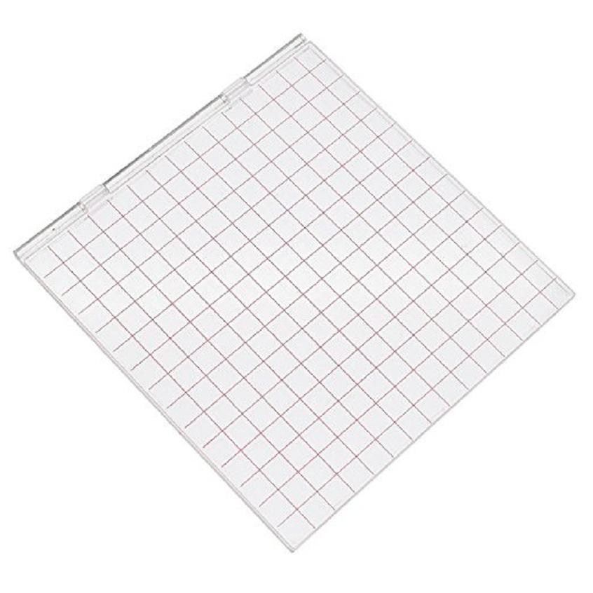 새로운 2018 명확한 아크릴 우표 구획 절삭 죽을위한 두는두기 Scrapbooking DIY 기술 선물 16X16cm