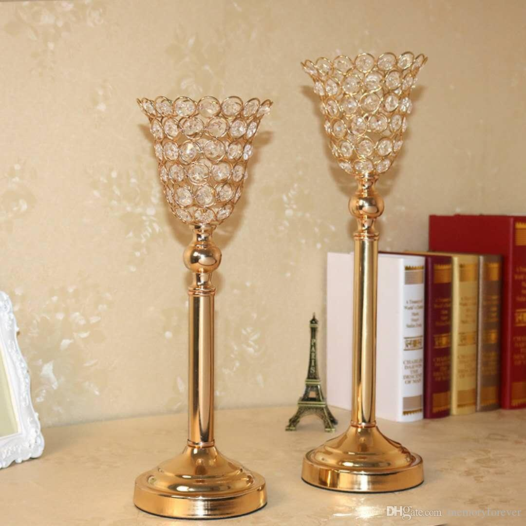 wedding crystal centerpiece wedding decoration accessories metal candle holder flower stand tall candlestick anniversary party supplies