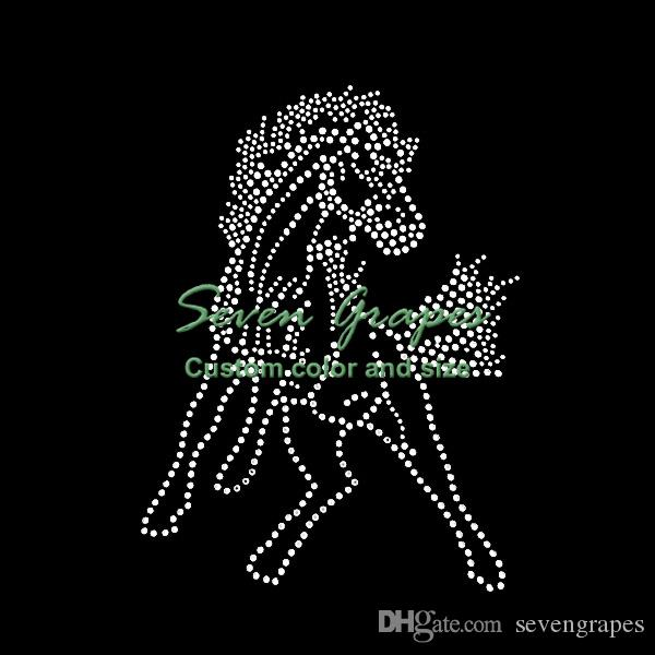 Кристалл лошадь горячей исправить железа на горный хрусталь передачи мотив исправление аппликация 20 шт.